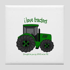I LOVE TRACTORS Tile Coaster