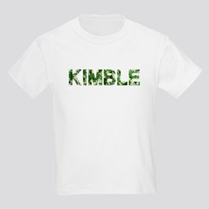 Kimble, Vintage Camo, Kids Light T-Shirt