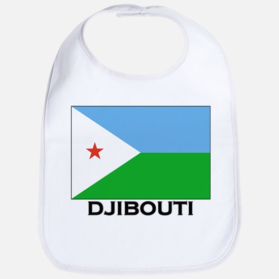 Djibouti Flag Merchandise Bib