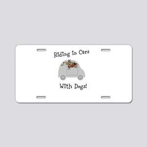 Traveling with dogs Aluminum License Plate