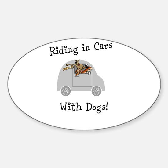 Traveling with dogs Sticker (Oval)