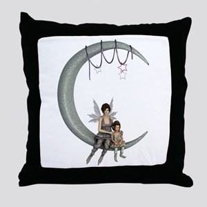 Swing on the moon Throw Pillow