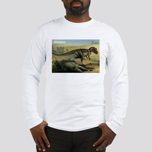 Allosaurus Dinosaur (Front) Long Sleeve T-Shirt
