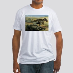 Allosaurus Dinosaur (Front) Fitted T-Shirt