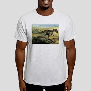 Allosaurus Dinosaur (Front) Ash Grey T-Shirt