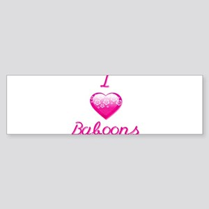 I Love/Heart Baboons Sticker (Bumper)