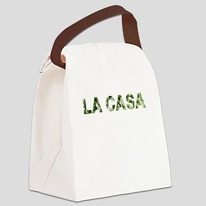 La Casa, Vintage Camo, Canvas Lunch Bag