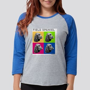 field spaniel pop 10x10cm Womens Baseball Tee