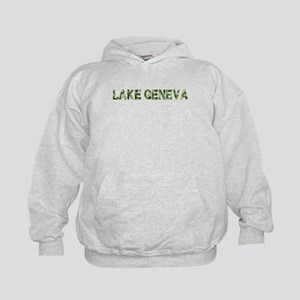 Lake Geneva, Vintage Camo, Kids Hoodie