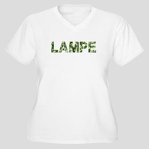 Lampe, Vintage Camo, Women's Plus Size V-Neck T-Sh