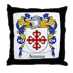 Anzano Coat of Arms Throw Pillow