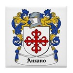 Anzano Coat of Arms Tile Coaster