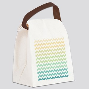 Chevron Stripes - Yellow, Green, Blue Canvas Lunch