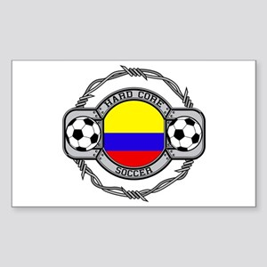 Colombia Soccer Rectangle Sticker