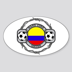 Colombia Soccer Oval Sticker