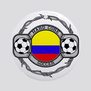 Colombia Soccer Ornament (Round)