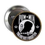 Masonic POW/MIA WARRIOR Button