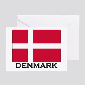 Denmark Flag Gear Greeting Cards (Pk of 10)