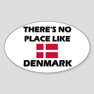 There Is No Place Like Denmark Oval Sticker