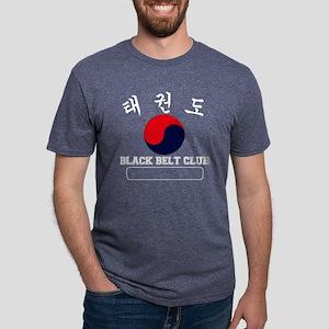 TKD Black Belt Club - White Mens Tri-blend T-Shirt