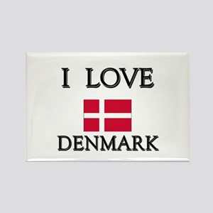 I Love Denmark Rectangle Magnet