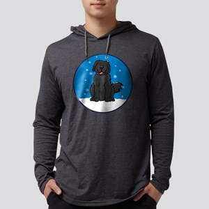 newfie_snow_round2 Mens Hooded Shirt