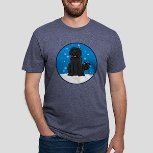 newfie_snow_round2 Mens Tri-blend T-Shirt