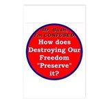 Preserve Freedom Postcards (Package of 8)