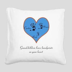 Personalized handprints Square Canvas Pillow