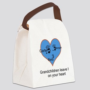 Personalized handprints Canvas Lunch Bag