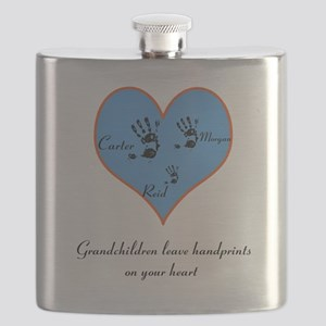 Personalized handprints Flask