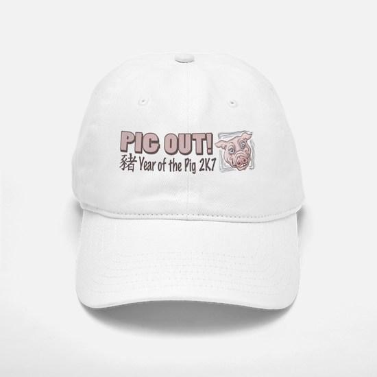 Pig Out Year of the Pig Baseball Baseball Cap