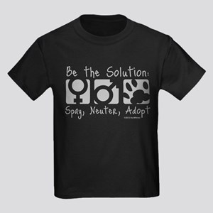 Be The Solution (one color) Kids Dark T-Shirt
