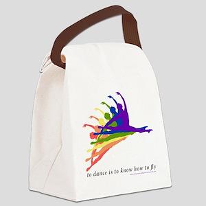 Rainbow Jete Canvas Lunch Bag