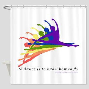 Rainbow Jete Shower Curtain