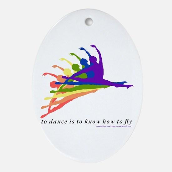 Rainbow Jete Ornament (Oval)