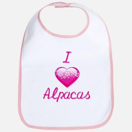 I Love/Heart Alpacas Bib