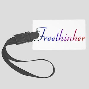 freethinker Large Luggage Tag