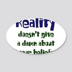 realitydoesnt dark Oval Car Magnet