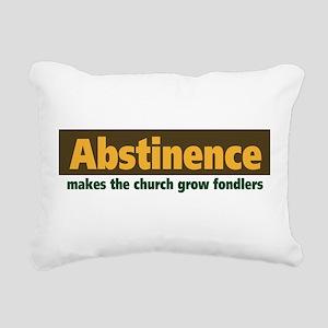 Abstinence Rectangular Canvas Pillow