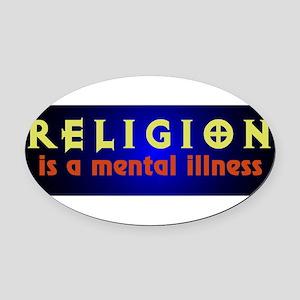 mentalillness Oval Car Magnet