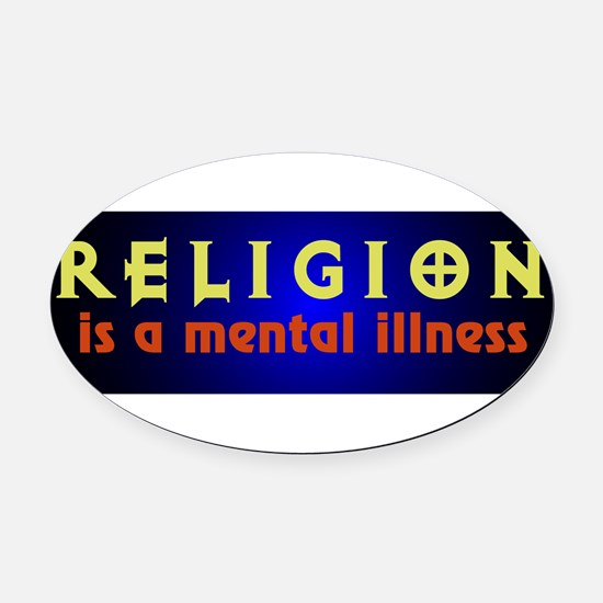 mentalillness.png Oval Car Magnet