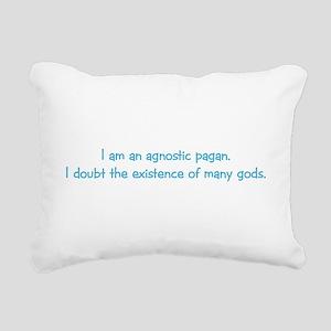 Agnostic Pagan Rectangular Canvas Pillow