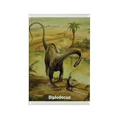 Diplodocus Dinosaur Rectangle Magnet (10 pack)