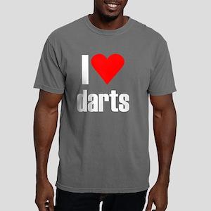 i heart darts black Mens Comfort Colors Shirt