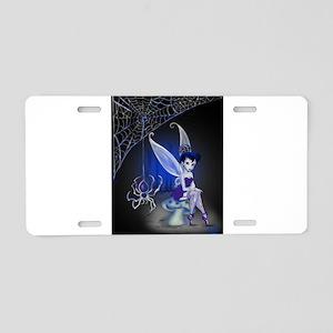 Spider Gothic Fairy Aluminum License Plate
