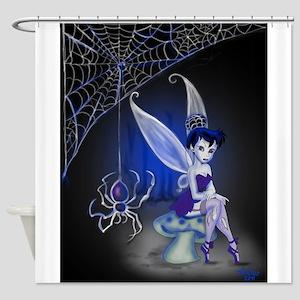 Spider Gothic Fairy Shower Curtain