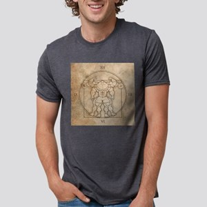 big_vitruv_clock Mens Tri-blend T-Shirt
