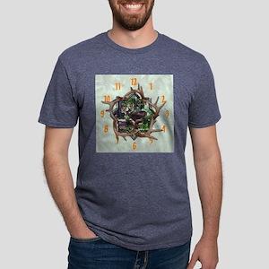 6-5-4-3-wallclock Mens Tri-blend T-Shirt