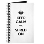 Keep Calm Shred On Journal